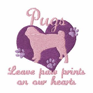 Pugs Leave Paw Prints Pink Hoody