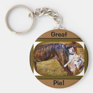 Pugs Like Pie! Basic Round Button Keychain