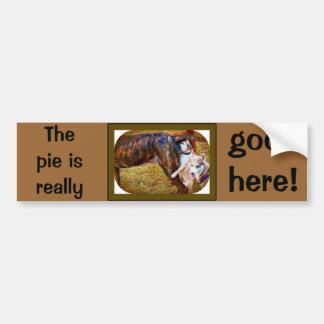 Pugs Like Pie! Car Bumper Sticker