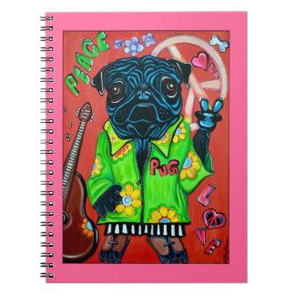 Pugs Love Peace Notebook