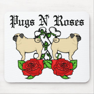 Pugs N Roses 2 Mouse Pads