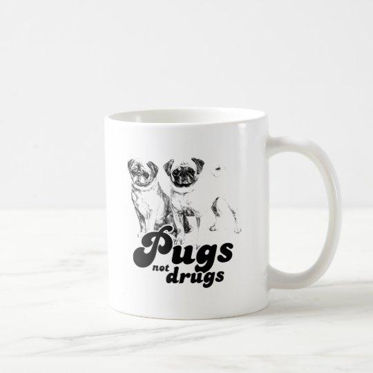 PUGS NOT DRUGS 2 COFFEE MUG