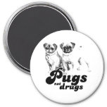 PUGS NOT DRUGS 2 MAGNETS