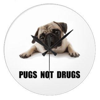 Pugs Not Drugs Clock