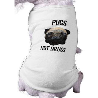 Pugs Not Drugs Doggie T Shirt