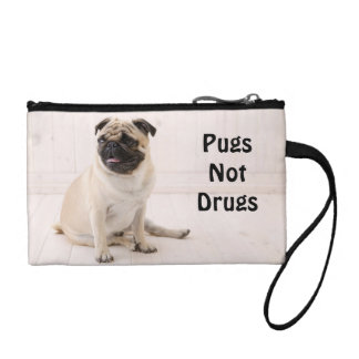 Pugs Not Drugs Key Coin Wristlet