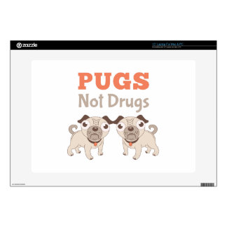 Pugs Not Drugs Laptop Decals
