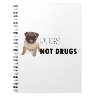 Pugs Not Drugs Notebook