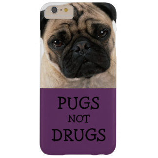 Pugs Not Drugs Purple Barely There iPhone 6 Plus Case