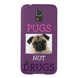 Pugs Not Drugs Purple Galaxy S5 Cases