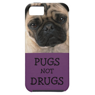 Pugs Not Drugs Purple Vibe iPhone SE/5/5s Case