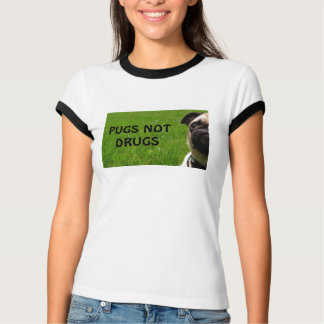 Pugs Not Drugs Ringer Tee