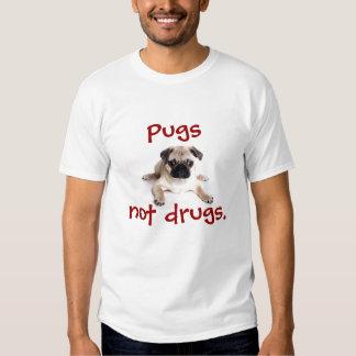 Pugs, not drugs. tee shirt