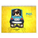 Pugs Off-Leash Art™ Vol 1 Calendar