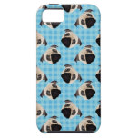 Pugs on Blue Checks 2 iPhone 5 Covers