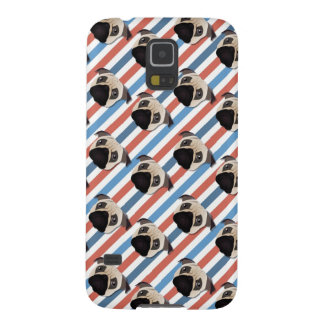 Pugs on Red, White and Blue Diagonal Stripes Galaxy S5 Cases
