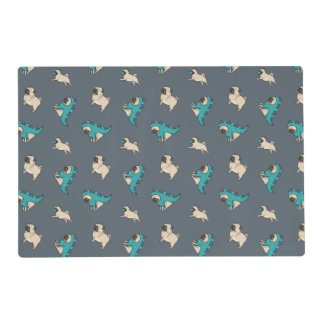 Pugs' Pattern, Dogs Rule! Placemat