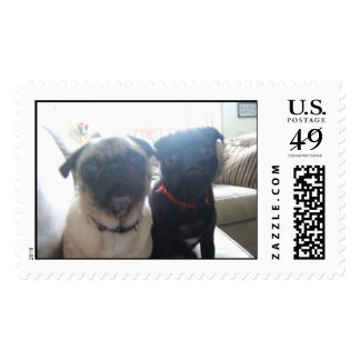 pugs postage stamps