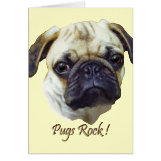Pugs-Rock Card