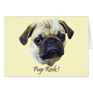 Pugs-Rock Greeting Cards