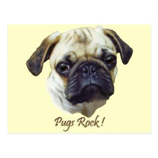 Pugs-Rock Postcard