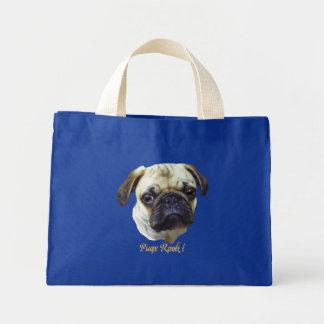 Pugs-Rock Tote Bags