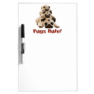 Pugs Rule! 1 Dry-Erase Board