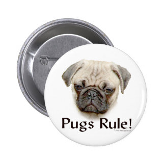 Pugs Rule 2 Inch Round Button