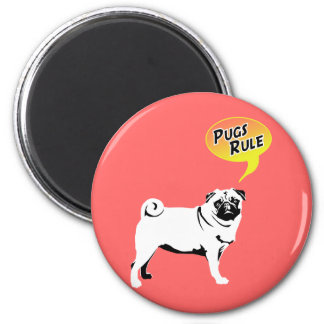 Pugs Rule 2 Inch Round Magnet