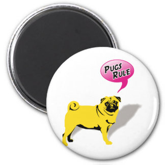 Pugs Rule! 2 Inch Round Magnet