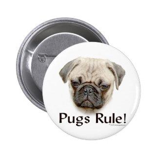 Pugs Rule Pinback Button