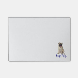 Pugs Rule Puppy Dog Post IT Sticky Notes