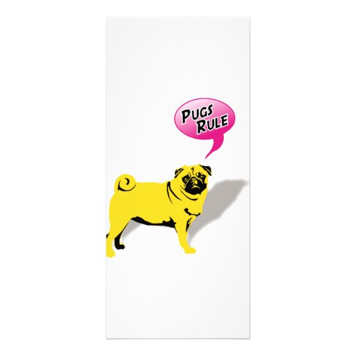 Pugs Rule! Rack Card Design