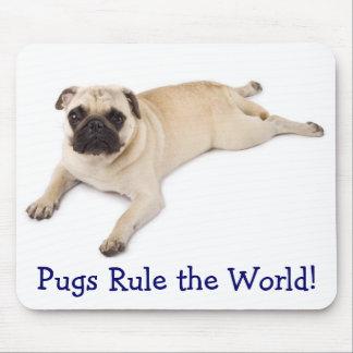 Pugs Rule the World Mousepad