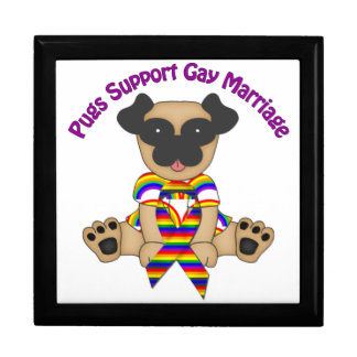 Pugs Support Gay Marriage Keepsake Boxes