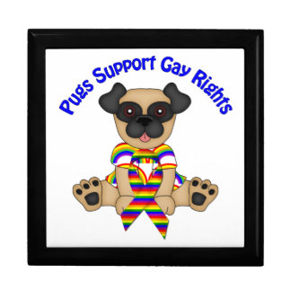 Pugs Support Gay Rights Gift Boxes