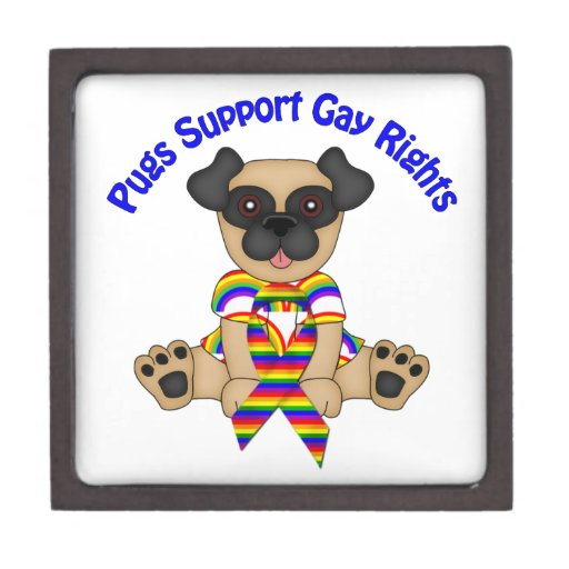 Pugs Support Gay Rights Premium Gift Boxes