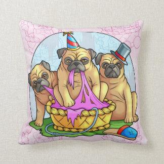 pugs throw pillow