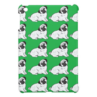 Pugs with Green Pattern iPad Case