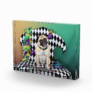 Pugsgiving Mardi Gras 2015 - Boss - Pug Acrylic Award