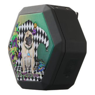 Pugsgiving Mardi Gras 2015 - Boss - Pug Black Bluetooth Speaker