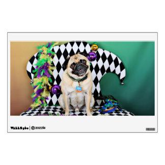 Pugsgiving Mardi Gras 2015 - Boss - Pug Wall Sticker