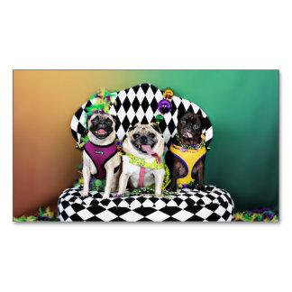 Pugsgiving Mardi Gras 2015 - Diamond Darla & Lilly Magnetic Business Card