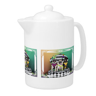 Pugsgiving Mardi Gras 2015 - Diamond Darla & Lilly Teapot