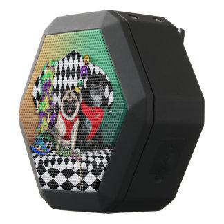 Pugsgiving Mardi Gras 2015 - Dipity & Louie - Pugs Black Bluetooth Speaker