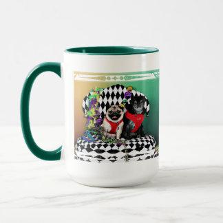 Pugsgiving Mardi Gras 2015 - Dipity & Louie - Pugs Mug