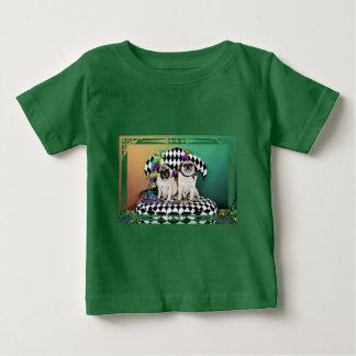 Pugsgiving Mardi Gras 2015 - Electra & Bruce - Pug Baby T-Shirt