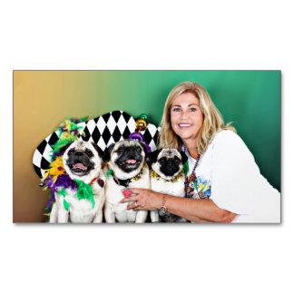 Pugsgiving Mardi Gras 2015 - Hambone Coco Olivia - Business Card Magnet