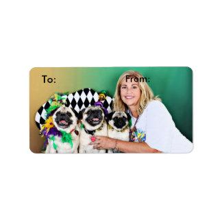 Pugsgiving Mardi Gras 2015 - Hambone Coco Olivia - Label