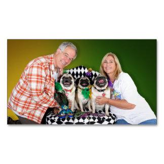 Pugsgiving Mardi Gras 2015 - Hambone Coco Olivia - Magnetic Business Card
